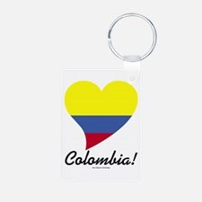 Heart Colombia (World) Keychains