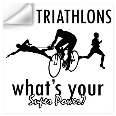 I Triathlons what's your superpower? Wall Decal