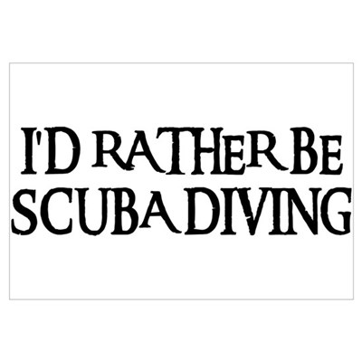 I'D RATHER BE SCUBA DIVING Canvas Art
