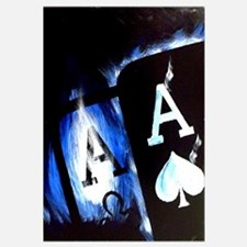 Blue Flame Pocket Aces Poker