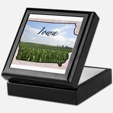 Cute Iowa Keepsake Box