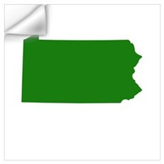 Green Pennsylvania Wall Decal