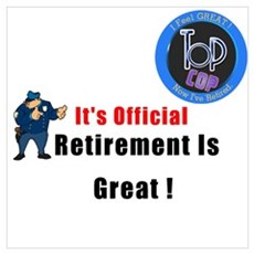 'Police Retirement Designs. Poster