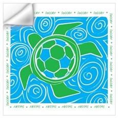 Turtle Beach Soccer Wall Decal