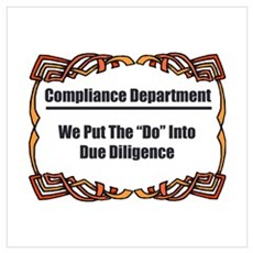 Due Diligence Compliance Framed Print
