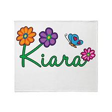 Kiara Flowers Throw Blanket