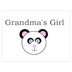 Grandma's Girl - Panda Poster
