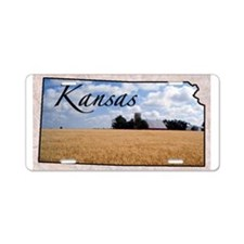 Unique Kansas Aluminum License Plate