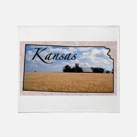 Cute Kansas Throw Blanket