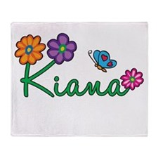 Kiana Flowers Throw Blanket