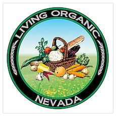 Living Organic Nevada Poster