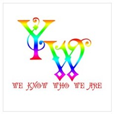 YW-WE KNOW WHO WE ARE Poster
