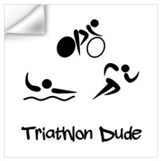 Triathlon Dude Wall Decal