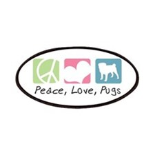 Peace, Love, Pugs Patches