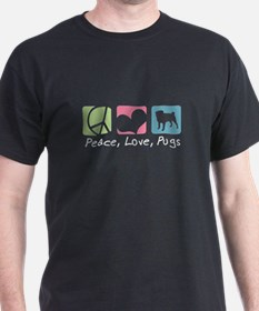 Peace, Love, Pugs T-Shirt