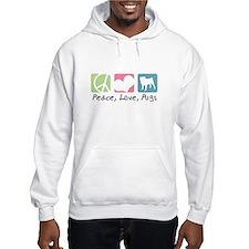 Peace, Love, Pugs Hoodie