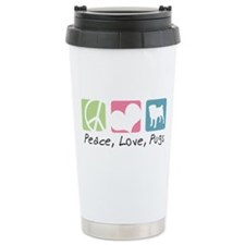 Peace, Love, Pugs Travel Mug