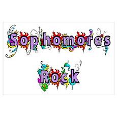 Sophomores Rock Poster