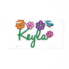 Keyla Flowers Aluminum License Plate