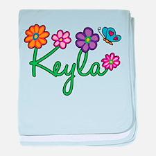 Keyla Flowers baby blanket
