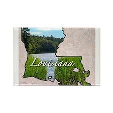 Cute Louisiana Rectangle Magnet