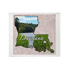 Cute Louisiana Throw Blanket