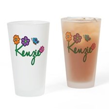 Kenzie Flowers Drinking Glass