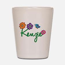 Kenzie Flowers Shot Glass