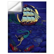 Pirate Mermaid Wall Decal