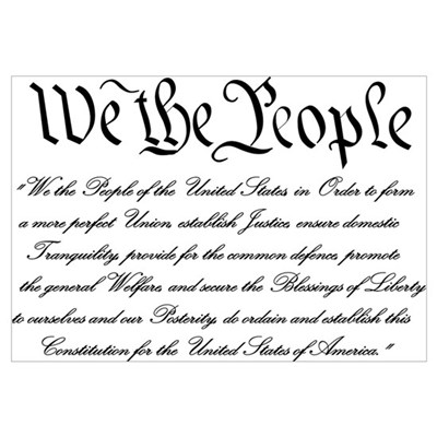 We the People Canvas Art