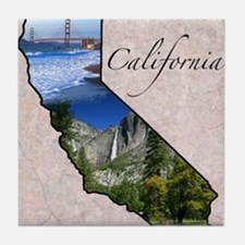 Unique Hollister california Tile Coaster