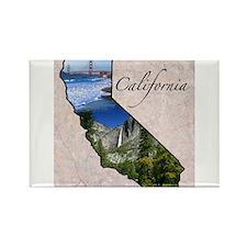 Unique California Rectangle Magnet