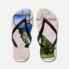 Cute University california Flip Flops