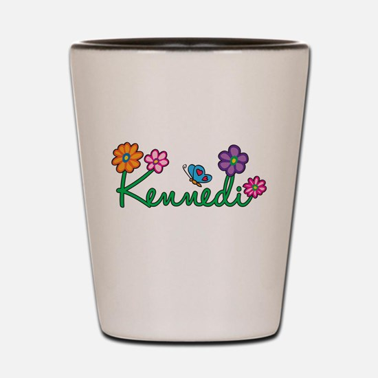 Kennedi Flowers Shot Glass