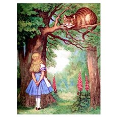 ALICE & THE CHESHIRE CAT Framed Print