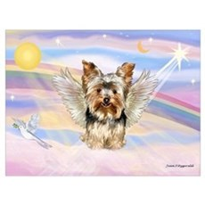 Yorkie (#17) in Clouds Poster