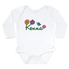 Kenna Flowers Long Sleeve Infant Bodysuit