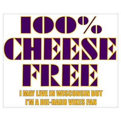 100% Cheese Free - MN Canvas Art