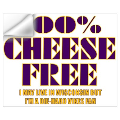 100% Cheese Free - MN Wall Decal