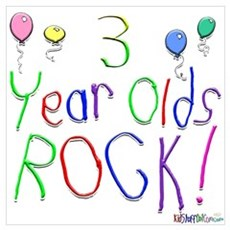 3 Year Olds Rock ! Poster