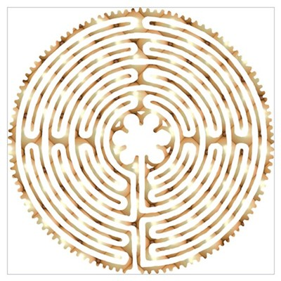 Chartres Labyrinth Pearl Poster