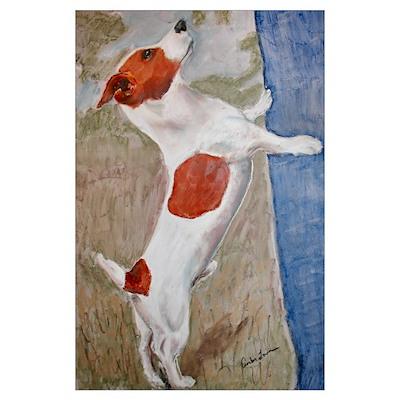 """Jpeg"" a Jack Russell Terrier Poster"