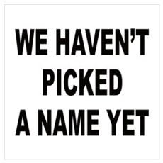 We haven't picked a name yet Poster