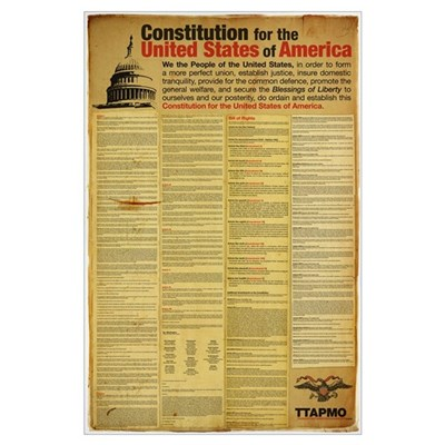 Constitution for the United States of America Poster