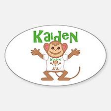 Little Monkey Kaiden Sticker (Oval)