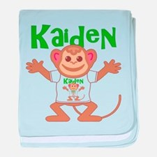Little Monkey Kaiden baby blanket