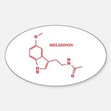 Melatonin Molecule Oval Decal