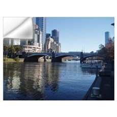 Melbourne Yarra River Wall Decal