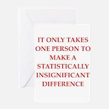 Funny statistics joke Greeting Card