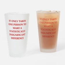 Funny statistics joke Drinking Glass